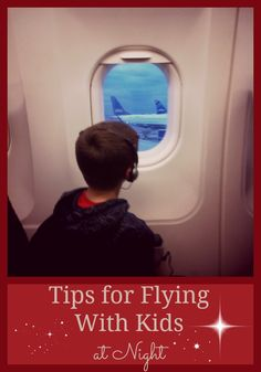 Flying with kids at night