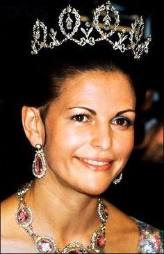 Reina Silvia de Suecia con la Tiara de Connaught