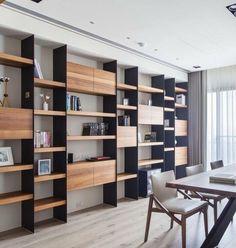 32 Extraordinary Bookshelf Design Ideas To Decorate Your Home More Beautiful Bookshelf Design, Wall Shelves Design, Display Shelves, Shelving, Corner Shelves, Display Ideas, Metal Shelves, Home Office Design, Interior Design Kitchen