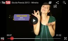 Poesia:Mineira, Autor: Francisco Melgaço, Tradução e interpretação em Libras: Sarah Melgaço, TV UFG!