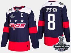 9e1e4dd12 Washington Capitals Premier Adidas 2018 NHL Stanley Cup Champs Jersey