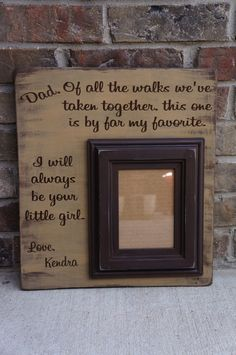 Custom Personalized Chunky Distressed Daddy Daughter Wedding Picture Frame: Daddy's Little Girl