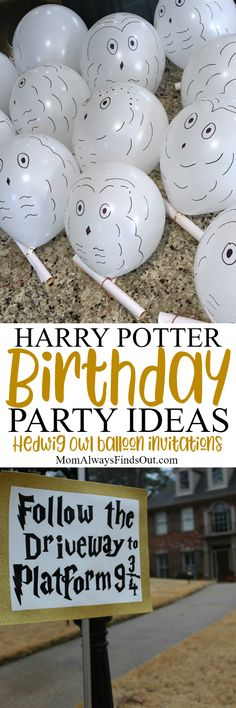 Are you looking for creative and fun Harry Potter party ideas? Start with these free printable Harry Potter Birthday Party Invitations, Hogwarts Acceptance Letter and DIY Hedwig Owl Balloons.