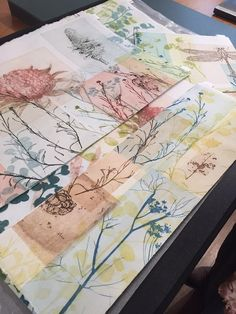 Trudy Rice works on paper 2016 Australian Native Flowers, Gelli Printing, Abstract Watercolor, Watercolour, Painting & Drawing, Texture Painting, How To Make Beads, Art Lessons, Creative Art
