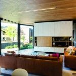 Main Living Area with characterised by a Vast Timber Lined Ceiling