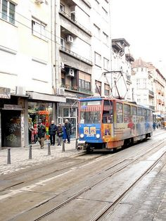 Trams in Bulgaria, Sofia. This one is for Rob!