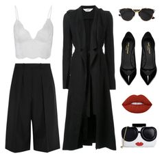 """""""Untitled #27"""" by timeless-fashion-chic ❤ liked on Polyvore featuring Jil Sander, Anine Bing, Kitx, Christian Dior, Yves Saint Laurent, Lime Crime and Alice + Olivia"""