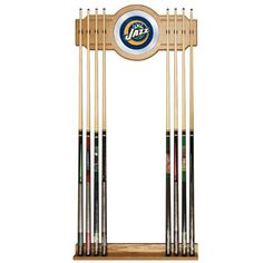 NBA Utah Jazz Billiard Cue Rack with Mirror *** Be sure to check out this awesome product.