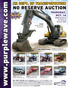 Kansas Department of Transportation Auction October 16, 2014 http://purplewave.com/a/141016