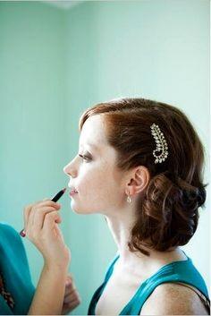 14k Gold Post Earrings . Clear Quartz Earings . Wedding Earrings . Gold Bridal Earrings . Faceted Teardrop - Shimmer Collection, via Etsy.