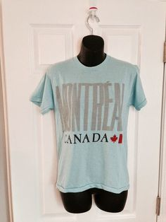 Vintage 1980s Montreal Canada blue t-shirt by thriftyoutfitters