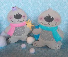 Laterne Robbe Remo & Ruth (Martinslaterne) von fRAU kNUFFIG auf DaWanda.com