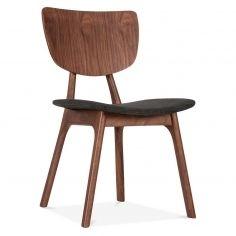 Cult Living Poppy Upholstered Dining Chair Walnut - Dark Grey