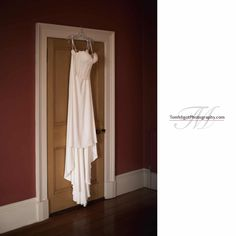 Bridal gown hung above the door of the music room Bridal Gowns, Wedding Dresses, Tweed, River, Music, Room, Photography, Bride Dresses, Bride Dresses