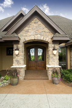 Love this french door entry!