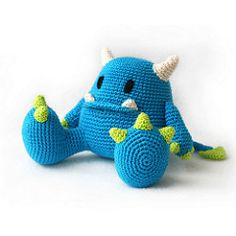 Mr. Blue monster amigurumi (DIY Fluffies) Tags: amigurumi crochet haken häklen diyfluffies diy crafts amigurumipatterns monster plushie softie design