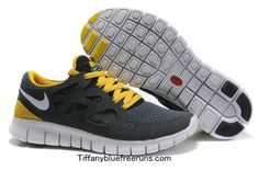 competitive price 073ad 9be92 Anthracite White Black Sonic Yellow Nike Free Run 2 Men s Running Shoes  cheap nike shoes