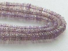 Pink Amethyst Plain Spacer Beads Pink Amethyst by gemsforjewels