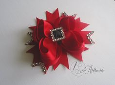Christmas hair bow by SewABowable on Etsy, $5.00