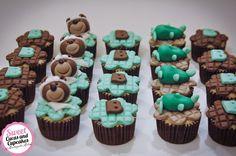 Sweet Cucas and Cupcakes by Rosângela Rolim: Fofuras no tema Ursinho Aviador para chá de Bebê!!...