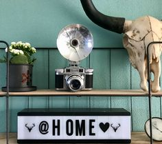 Vintage camera, home decoration, industriële inrichting, industrial style