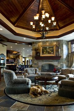 Dark Wood Crown Molding Design Ideas, Pictures, Remodel, and Decor