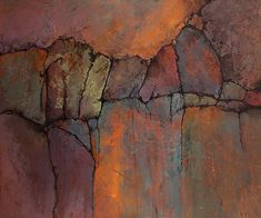 """CAROL NELSON FINE ART BLOG: Abstract Geologic Landscape Art """"Ancient Mysteries"""" by Colorado Mixed Media Abstract Artist Carol Nelson"""