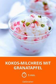 Kokos-Milchreis mit Granatapfel