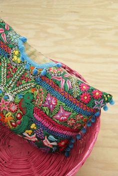 Pillow made from recycled Guatemalan huipil by Lorenza Filati - beautiful!