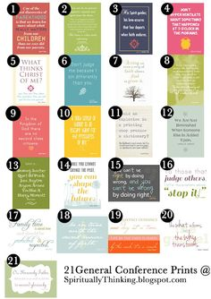 quotes from conference  ....and Spiritually Speaking: General Conference Printables - April 2012 - May Visiting Teaching & Home Teaching Ideas