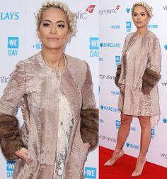 Rita Ora in Etro dress at We Day event in London on March 9, 2016