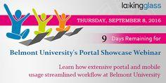 #BelmontUniv LookingGlass #banner Integrated #Portal Showcase Webinar.