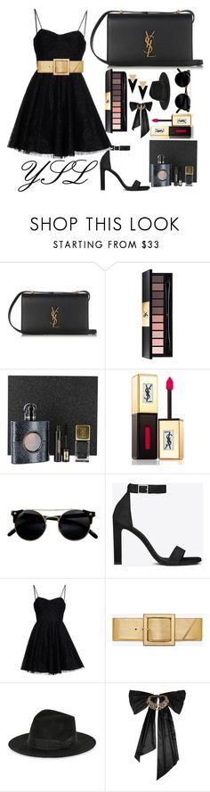 """Yves Saint Laurent"" by emie-black ❤ liked on Polyvore featuring Yves Saint Laurent, Oscar de la Renta, YSL, Luxe, yvessaintlaurent and classe"