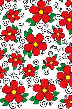 Beautiful Flower Drawings, Beautiful Flowers Wallpapers, Pretty Wallpapers, Flower Pot Design, Flower Designs, Cellphone Wallpaper, Iphone Wallpaper, Botanical Prints, Floral Prints