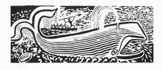 Edward Bawden R.A. (British, 1903-1989) Jonah's Whale Linocut, 1987, on wove, signed, titled and numbered 48/100 in pencil, the full sheet, 248 x 635mm (9 3/4 x 25in) (B) unframed