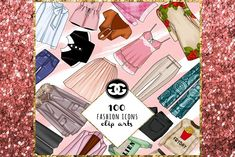 100 FASHION CLIPARTS PNG  by GìGì Illustrations on @creativemarket