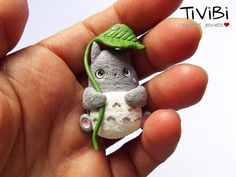 Totoro brooch or magnet by TiViBi on Etsy