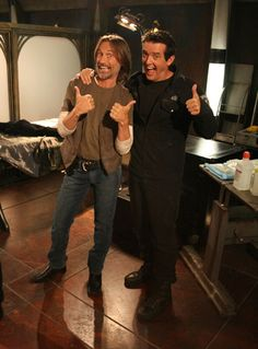 Robert Carlyle and Louis Ferreira on the SGU set