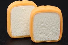 2 Slices Of White Bread Erasers