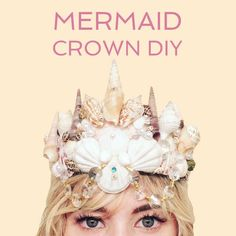 There is nothing as enchanting as a crown covered in shells!Every mermaid princess feels like a million bucks in one.They are awesome with a mermaid costume, fun to do for a party, and beautiful in mermaid photo shoots! Mermaid Photo Shoot, Mermaid Photos, Mermaid Shell, Mermaid Crown, Mermaid Princess, Mermaid Crafts, Mermaid Diy, Shell Crowns, Seashell Crown