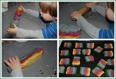 Fun rainbow cookies. Not just yummy but you can also discuss Colour Theory whilst you are at it!