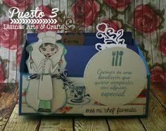 Latinas Arts and Crafts: Ganadoras Tutorial 67: Cajita Recetario
