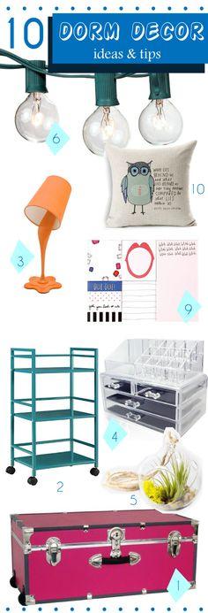 Dorm room ideas for girls #college #dorm #decor