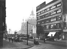 Berlin ca.1939 Die Kaiser-Wilhelm-Strasse (in der Nazizeit wurde der Noerliche Teil bis zur Rosnstrasse abgerissen)