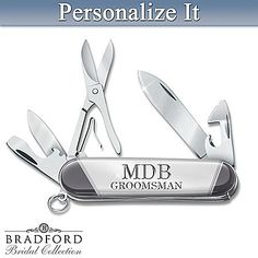 Personalized Knife Set With Tin Box