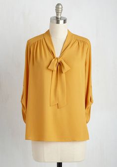 256fd19705 Careerist and Dearest Top in Saffron. Of all your chic workwear
