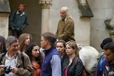 is that a stunt double of giaus....on a horse??? merlin filming 9/11/2012