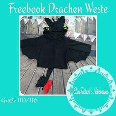 Drache, Drachen Kostüm, Ohnezahn - elwetritschs   FREEBIES, 110-140