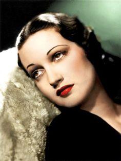 maquillage des stars des années 30 (dorothy lamour)