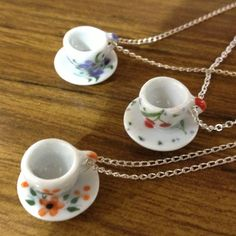 Sandy Tea Cup Necklaces at Ruck Rover General Store, Northbridge